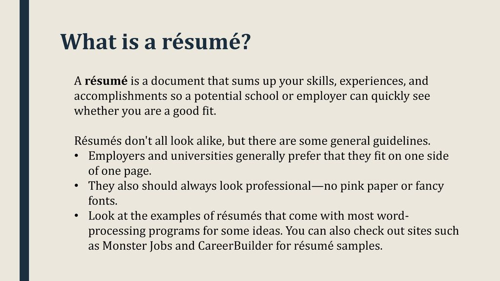 how to write a college application resume