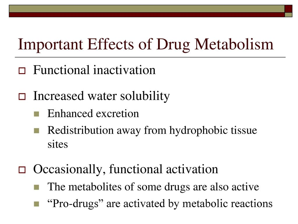 the drug metabolism Drug metabolism « (biotransformation) presented by , diptangshu das (2nd prof mbbs course ) definition drug metabolism (biotransformation) is defined as the chemical alteration of the drug in a body.