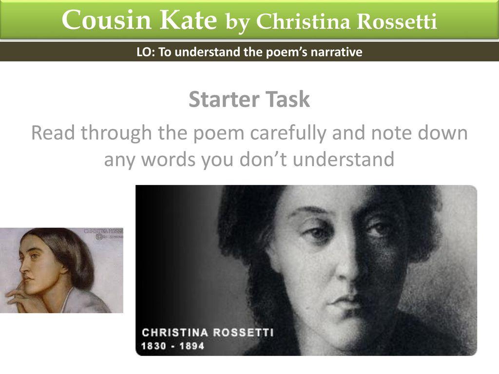 cousin kate poem analysis