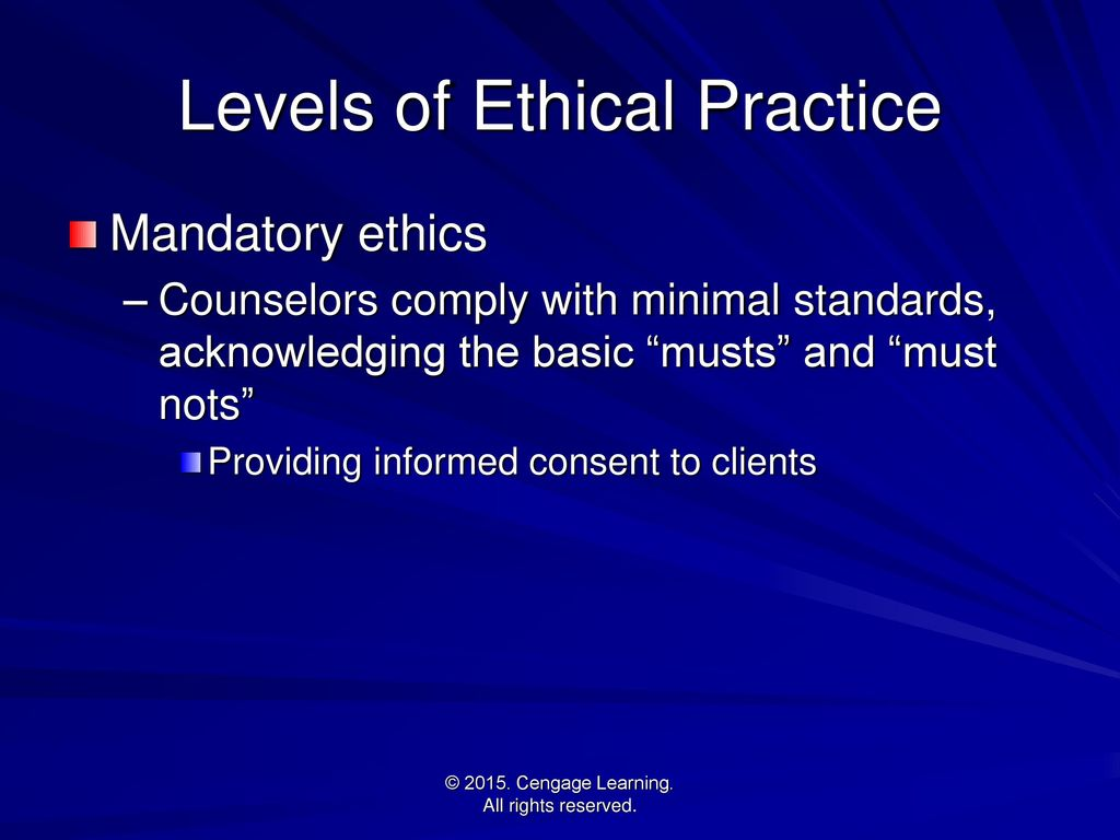Issues and ethics in the helping professions 9th edition ppt 10 levels of ethical practice xflitez Image collections