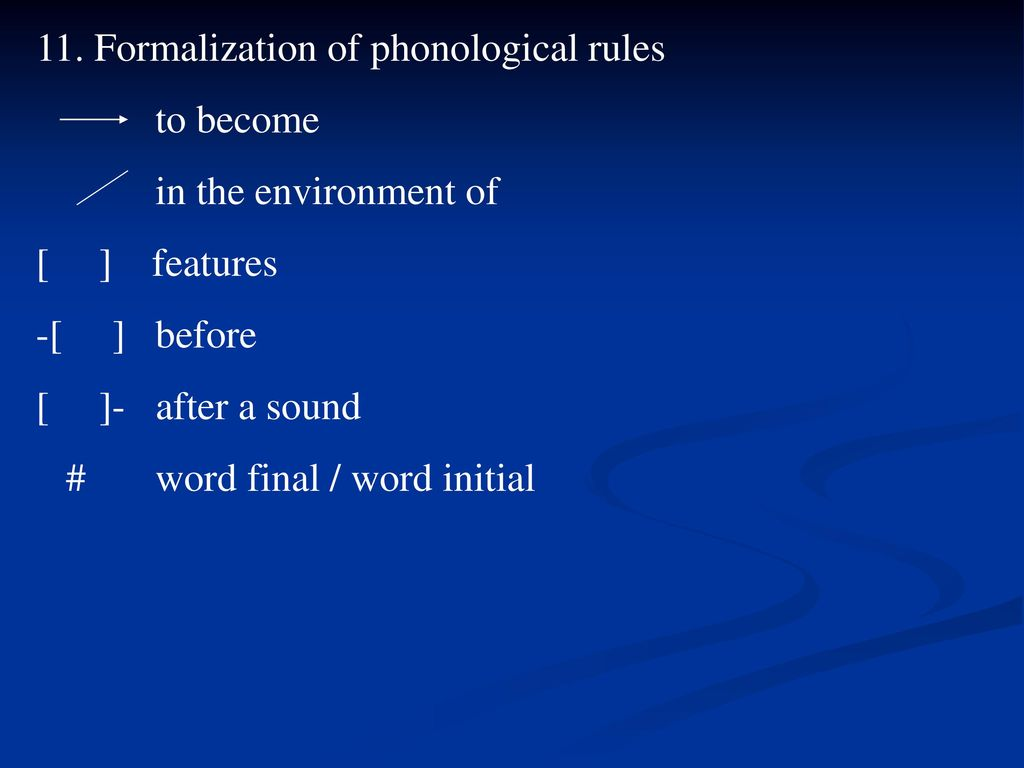 phonological rule epenthesis Phonology exercises  phonological rules describe what type of transformation is taking place by giving:  assimilation, dissimilation, deletion, epenthesis.