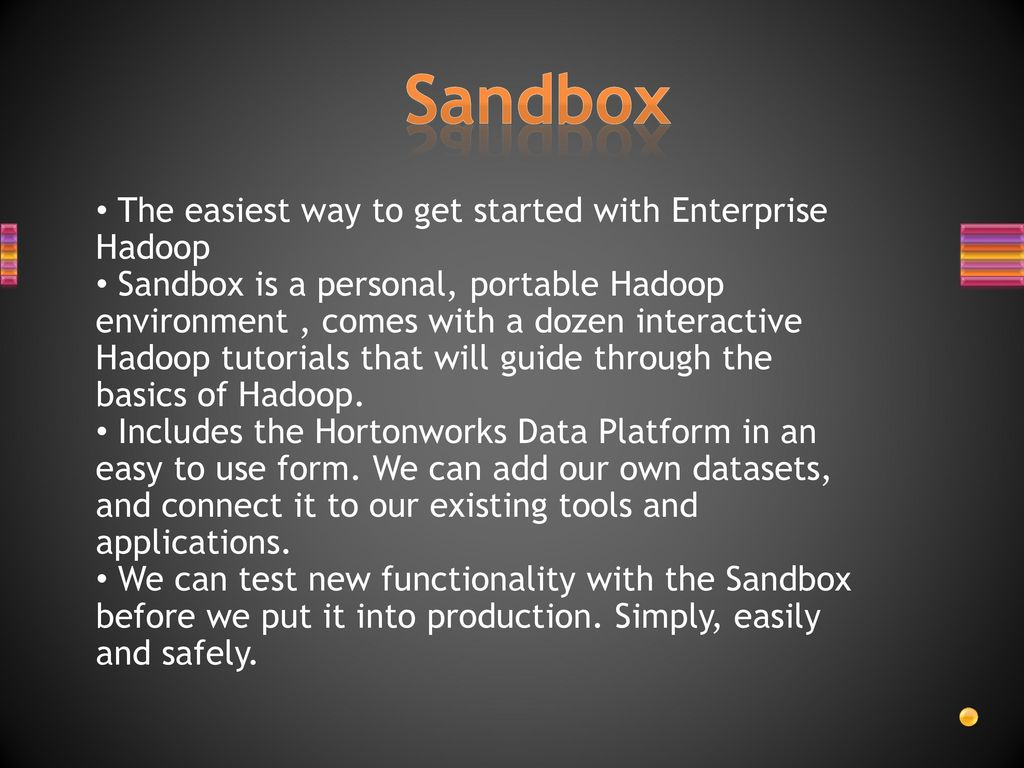 Introduction to mapreduce and hadoop ppt download sandbox the easiest way to get started with enterprise hadoop baditri Gallery