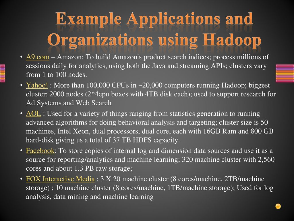 Introduction to mapreduce and hadoop ppt download example applications and organizations using hadoop baditri Gallery