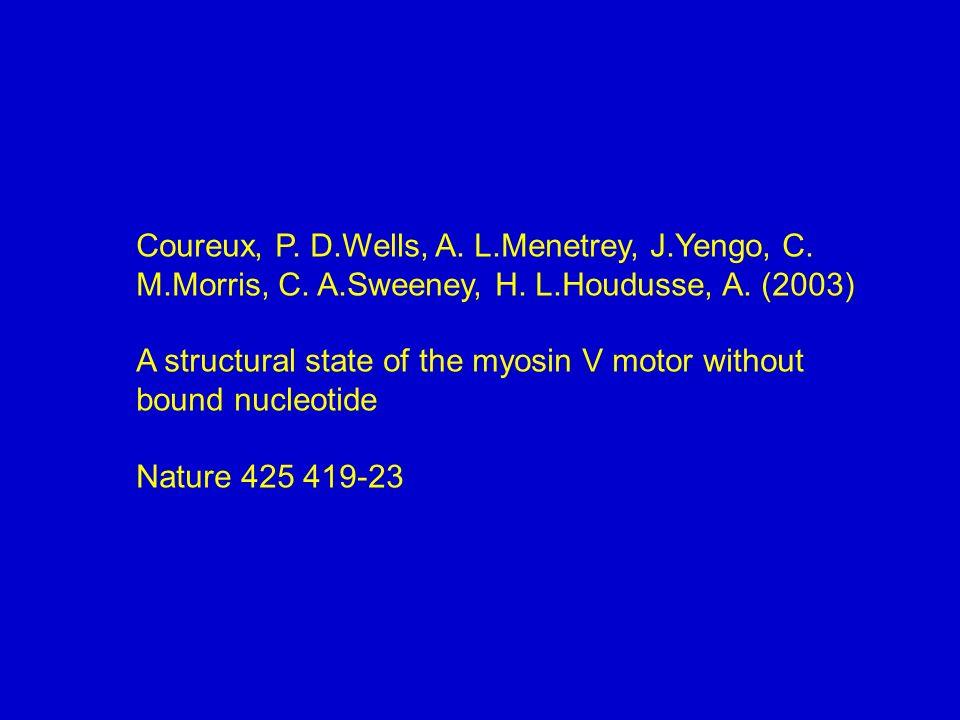 Coureux, P. D. Wells, A. L. Menetrey, J. Yengo, C. M. Morris, C. A