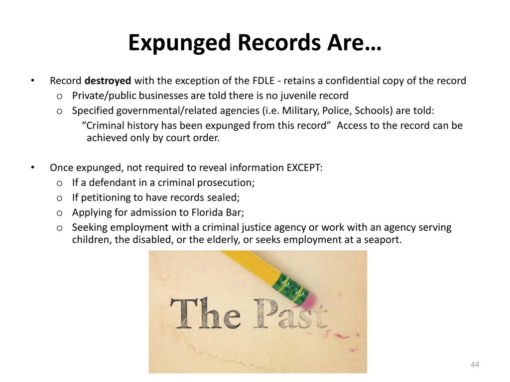 The collateral consequences of juvenile justice involvement ppt 44 expunged xflitez Images