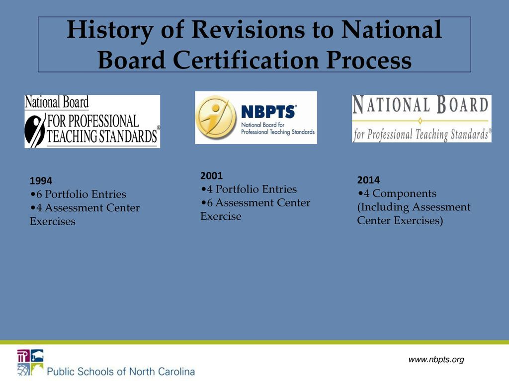 National board certification a distinction that matters ppt download history of revisions to national board certification process 1betcityfo Gallery