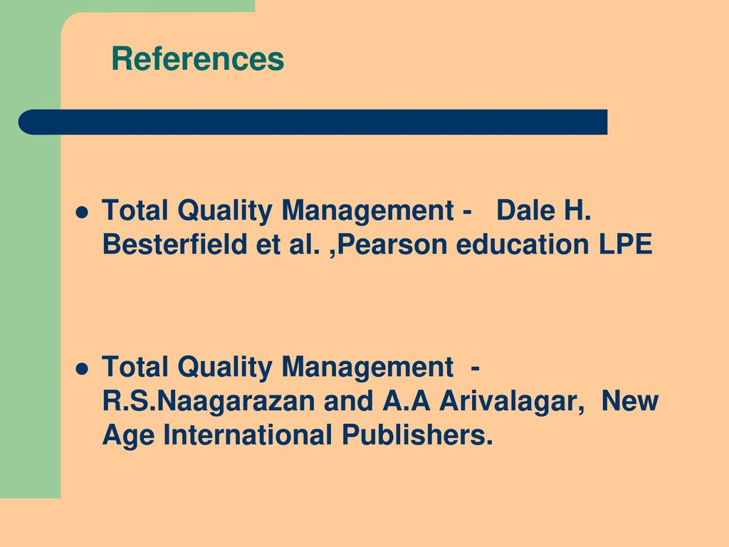 applying total quality management in teaching and learning Australian journal of basic and applied sciences, 11(9) june 2017, pages: 179-   tem for improving quality management in higher education.