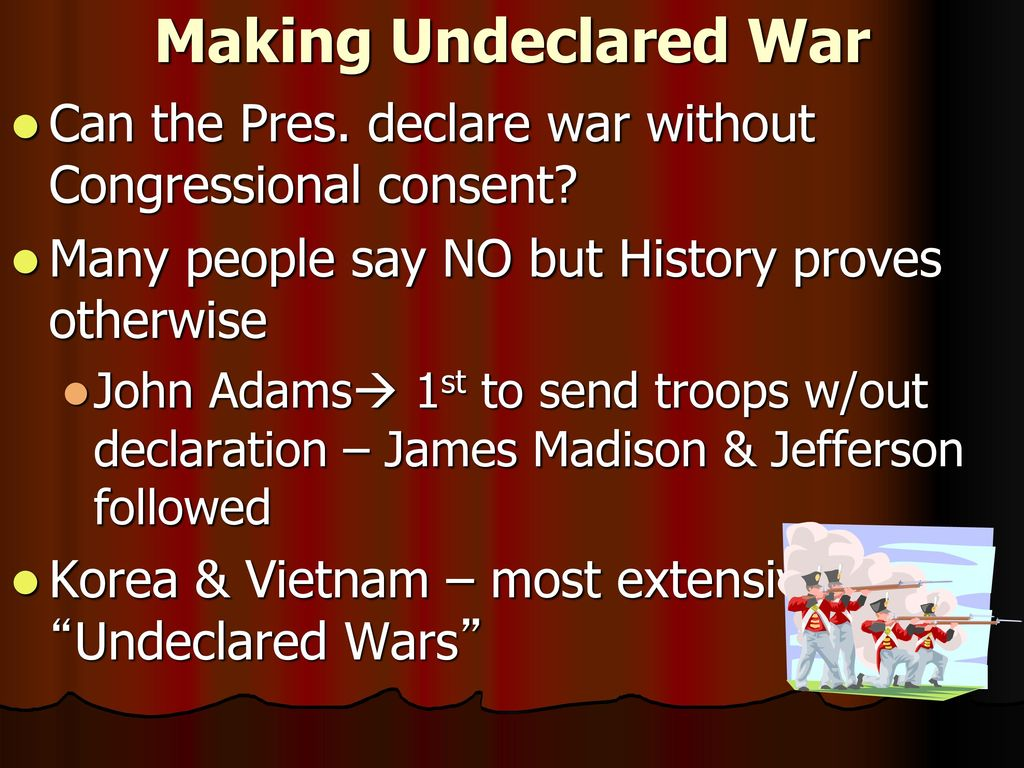 declaring the undeclared war The requirement of a declaration of war prior to the  the japanese argue that this was not a breach of the prohibition on undeclared attacks as the.