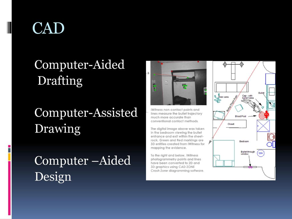 CAD Computer-Aided Drafting Computer-Assisted Drawing Computer –Aided Design