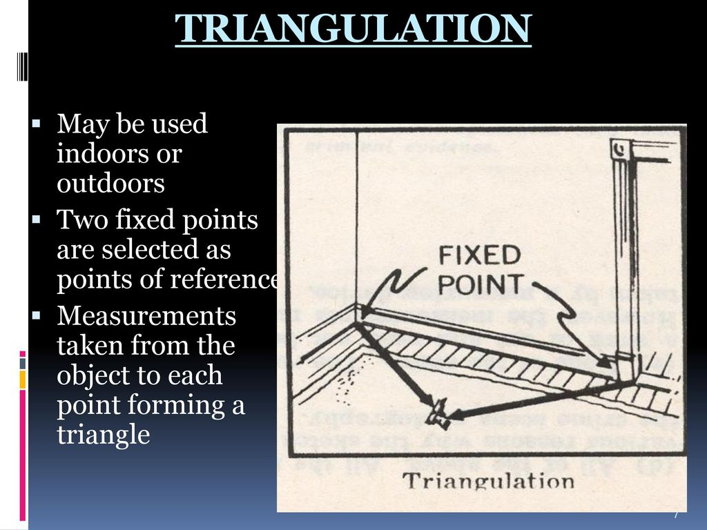 TRIANGULATION May be used indoors or outdoors