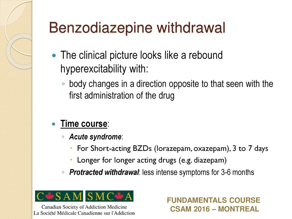 diazepam withdrawal hypertension