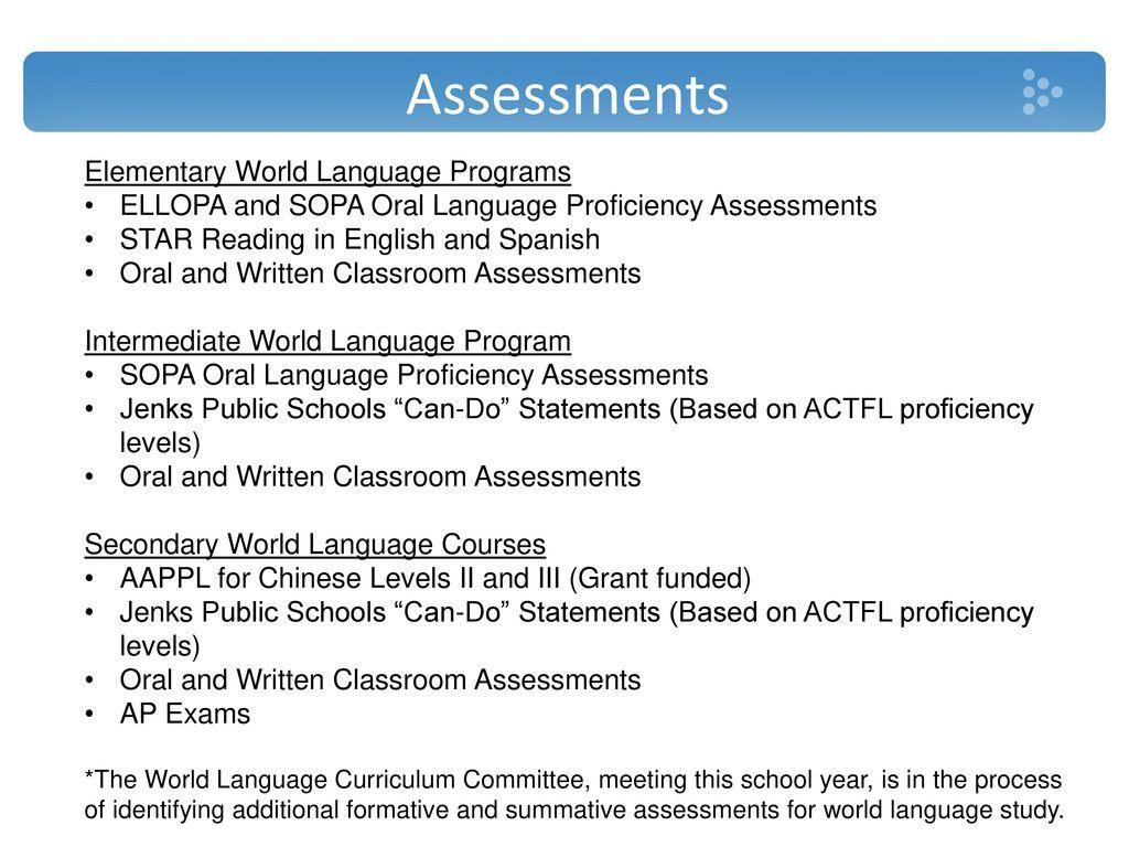 Jenks Public Schools World Language Programs Ppt Download - World language curriculum