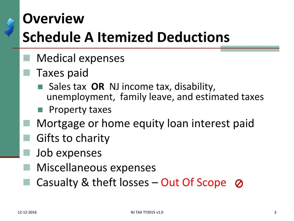 itemized deductions nj property tax deduction / credit - ppt download