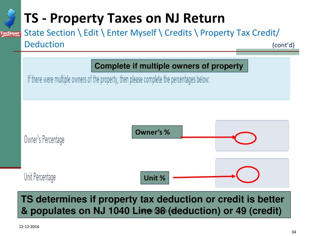 Itemized deductions nj property tax deduction credit ppt download ts property taxes on nj return state section edit enter myself credits falaconquin