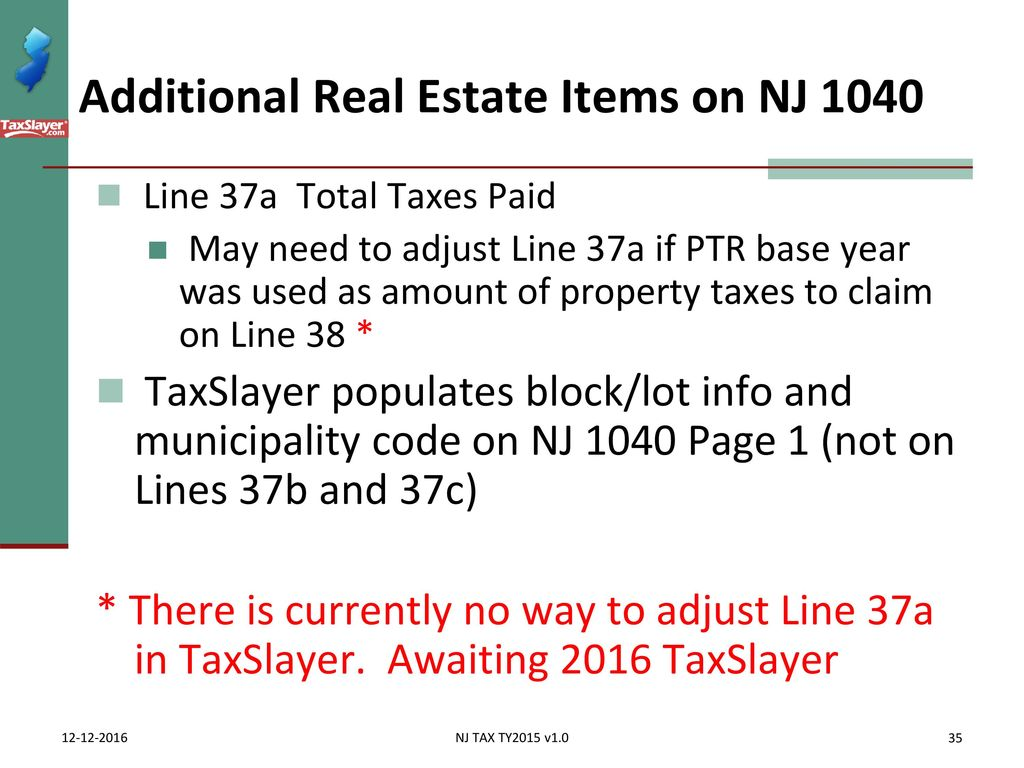 Itemized deductions nj property tax deduction credit ppt download additional real estate items on nj 1040 falaconquin