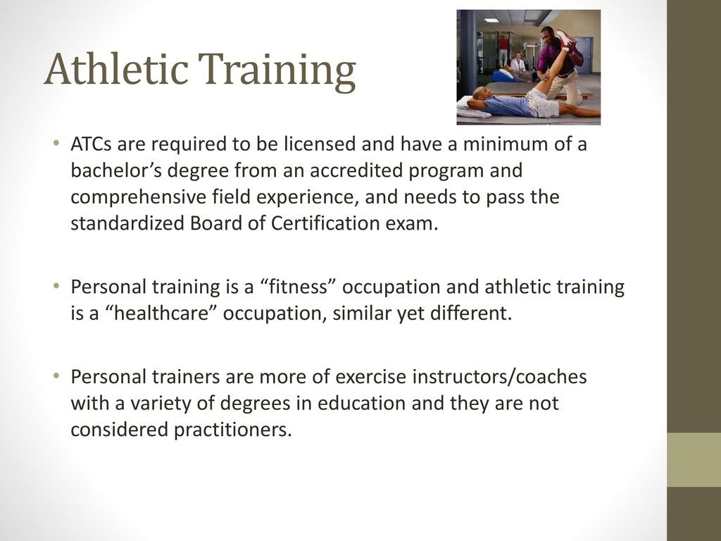 Health and exercise science careers ppt download 15 athletic training 1betcityfo Choice Image