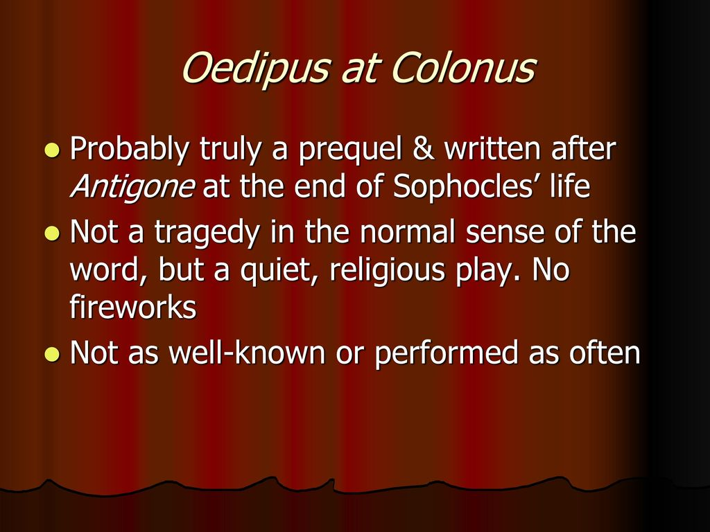 tragedy in the family of oedipus Aristotle rates sophocles' tragedy, 'oedipus the king' as the greatest ever composed,  cursing himself and his family in the process oedipus calls tiresias, the .