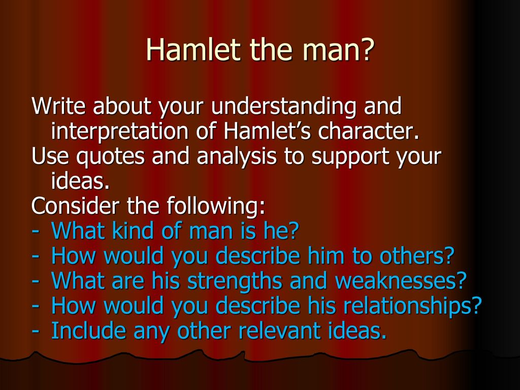 hamlet combat of ideas and interpretations Universalism and the bible the really good news  i do place interpretations on some passages in the bible:  you are welcome to write me about these ideas,.