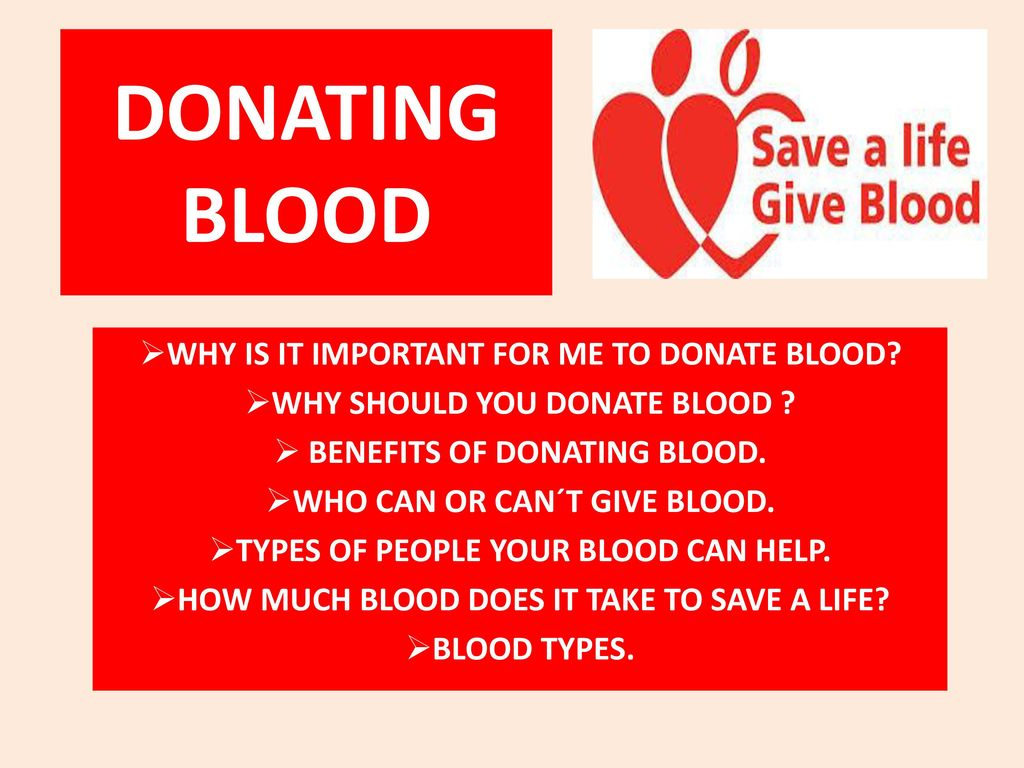 why donating blood is important The blood donor center at umass memorial medical center provides lifesaving  blood products and therapeutic services to patients.