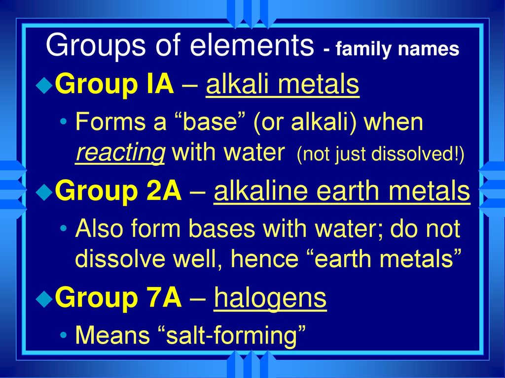 Periodic table with alkaline earth metals image collections periodic table group 7a gallery periodic table images chapter 6 the periodic table ppt download 20 gamestrikefo Choice Image