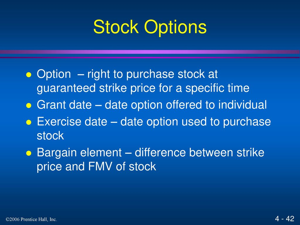 Cra exercise of stock options