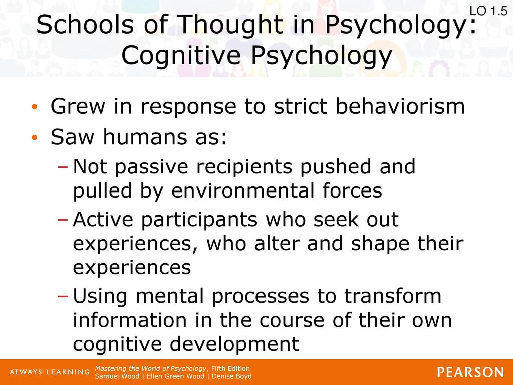 psychological schools of thought Section iii - philosophical perspectives in education part 4  (psychological orientations)  the first two theoretical approaches can be thought of as.