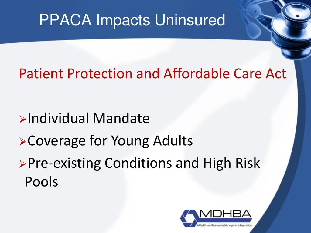 Certified patient account specialist ppt download 3 ppaca impacts uninsured patient protection and affordable care act 1betcityfo Image collections