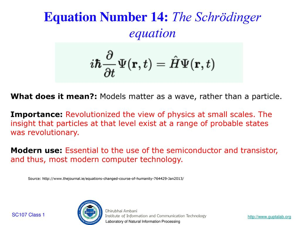 Sc107 class ppt download equation number 14 the schrdinger equation biocorpaavc