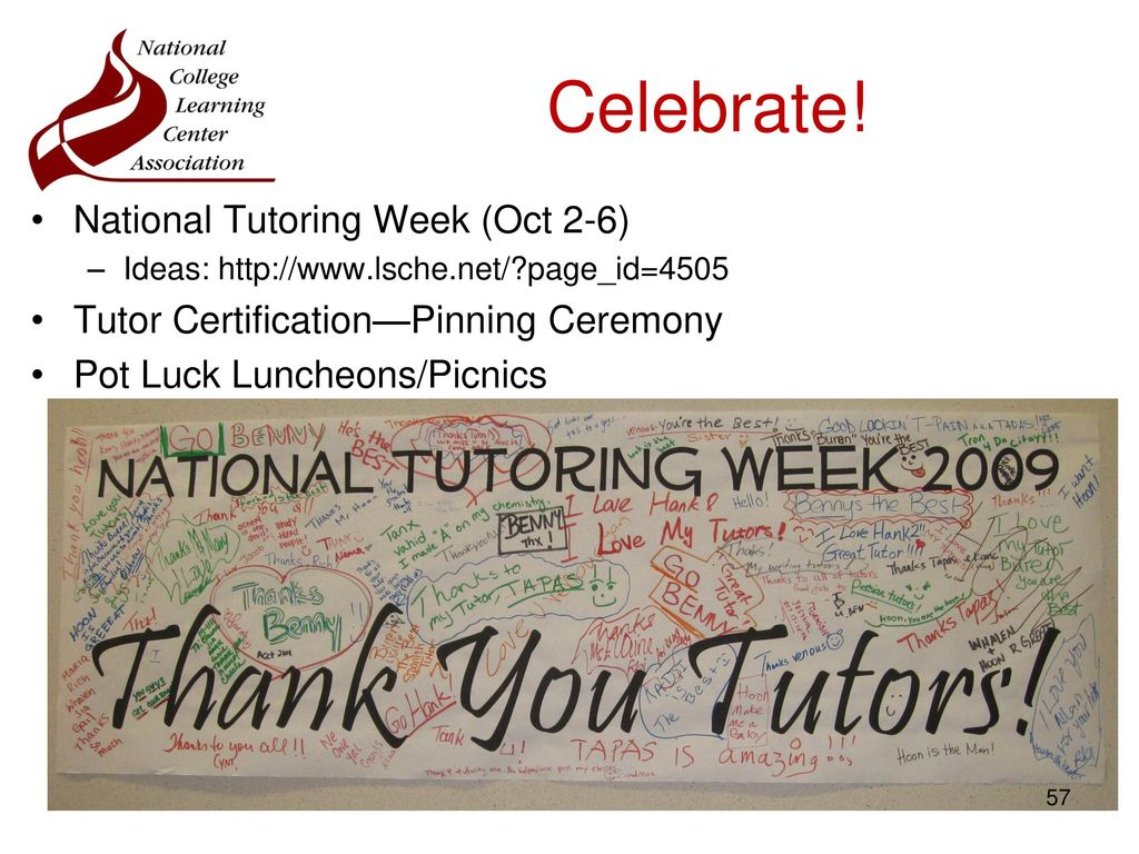 Learning center toolkit ppt download national tutoring week oct 2 6 1betcityfo Gallery