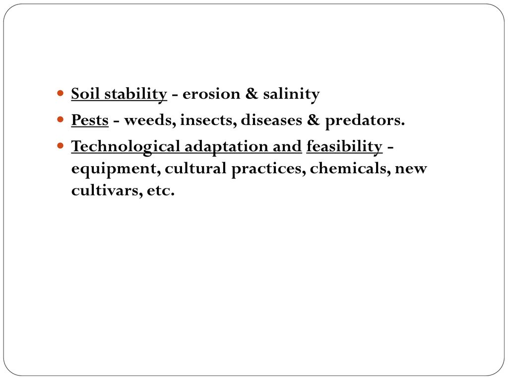 Soil stability - erosion & salinity
