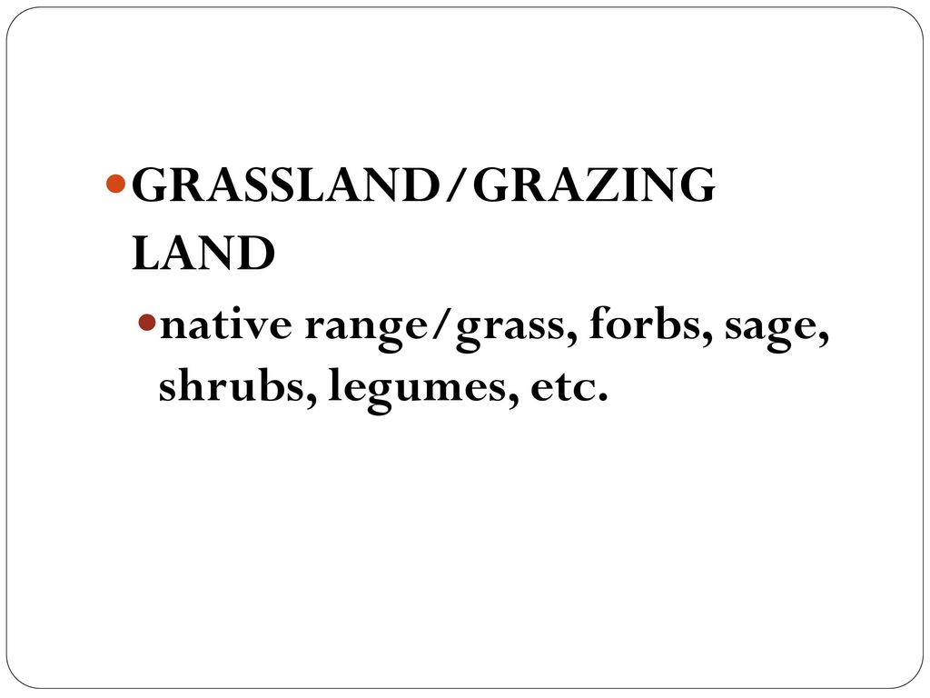 GRASSLAND/GRAZING LAND