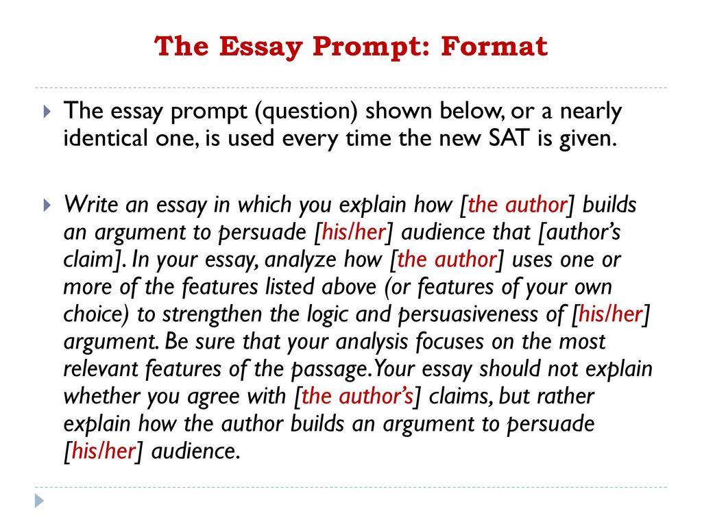 Sat essay prompt help
