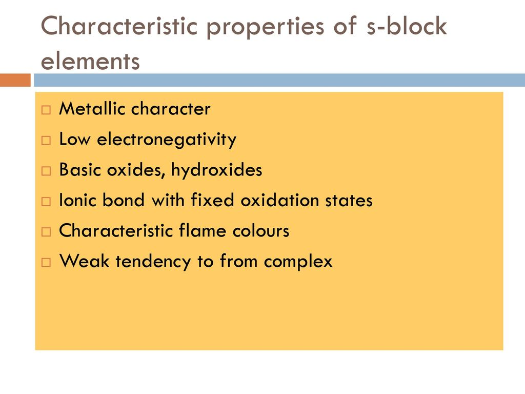 Which Properties Are Characteristic Of The Group  Ia Metals