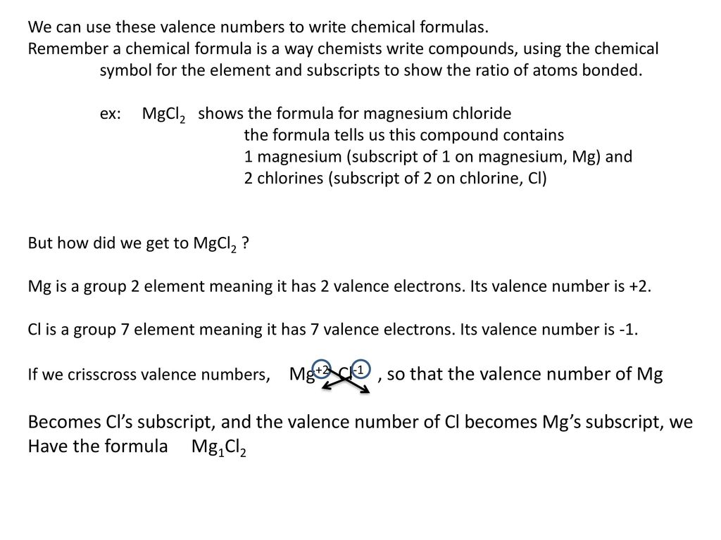 Chemical reactions using valence numbers to write formulas for 4 we buycottarizona