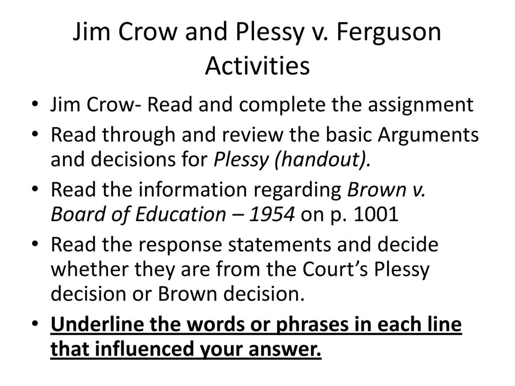 worksheet Plessy V Ferguson Worksheet early drawing of the jim crow character and an entertainer plessy v ferguson activities