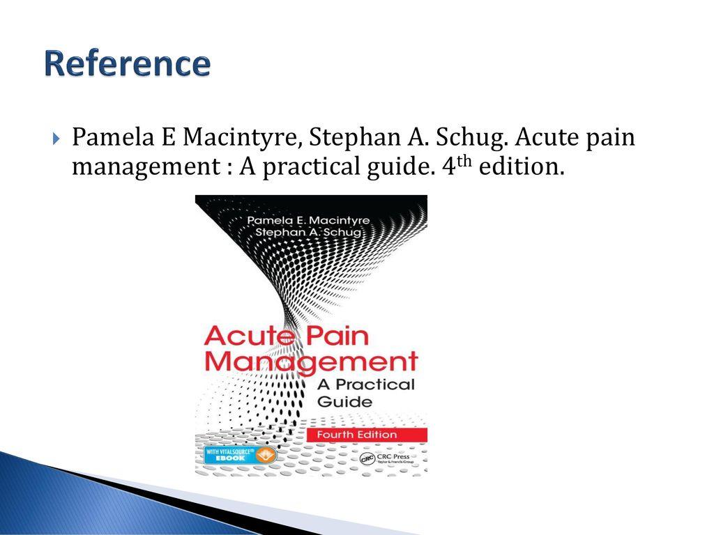 acute pain management a practical guide pdf