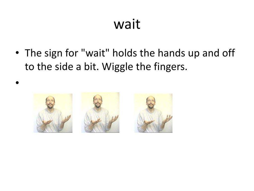 Wait Sign Language