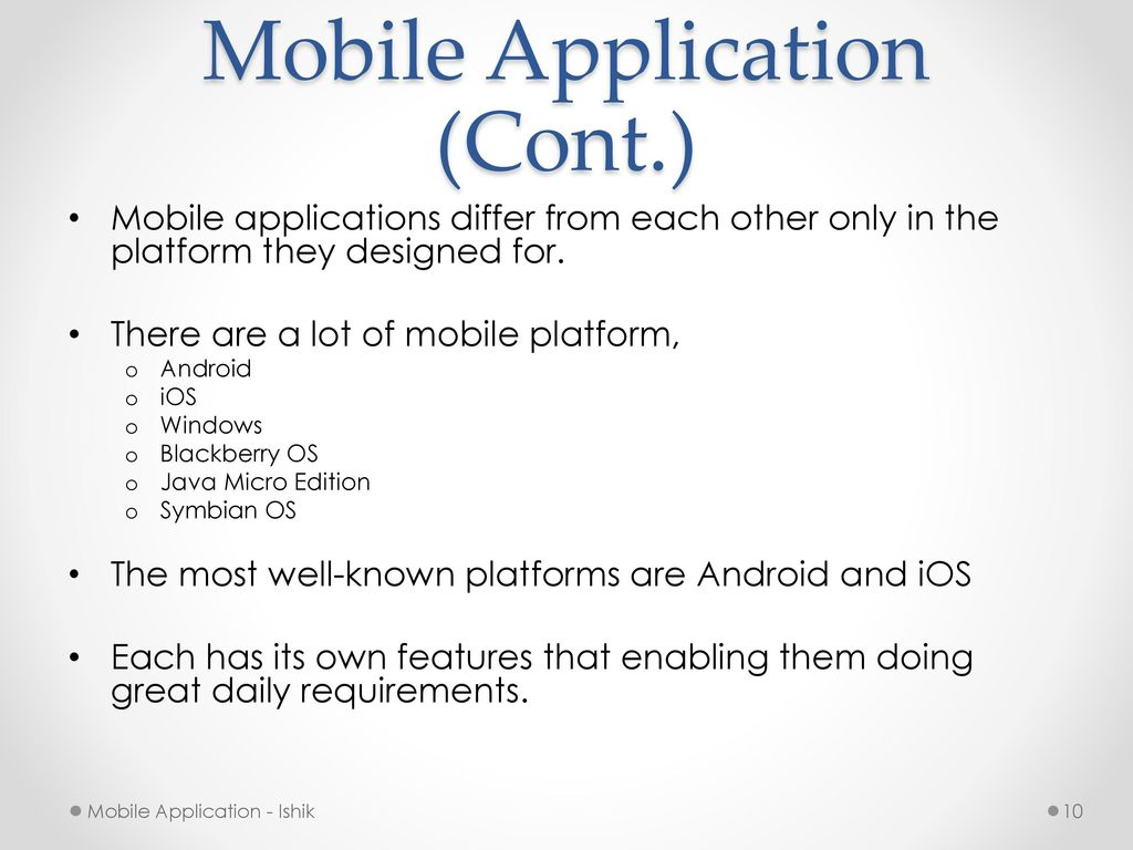 Mobile applications android programming ppt video online download 10 mobile application baditri Gallery