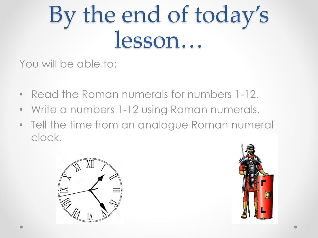 Nl reading roman numerals ppt download roman numerals 1 12 2 by thecheapjerseys Choice Image