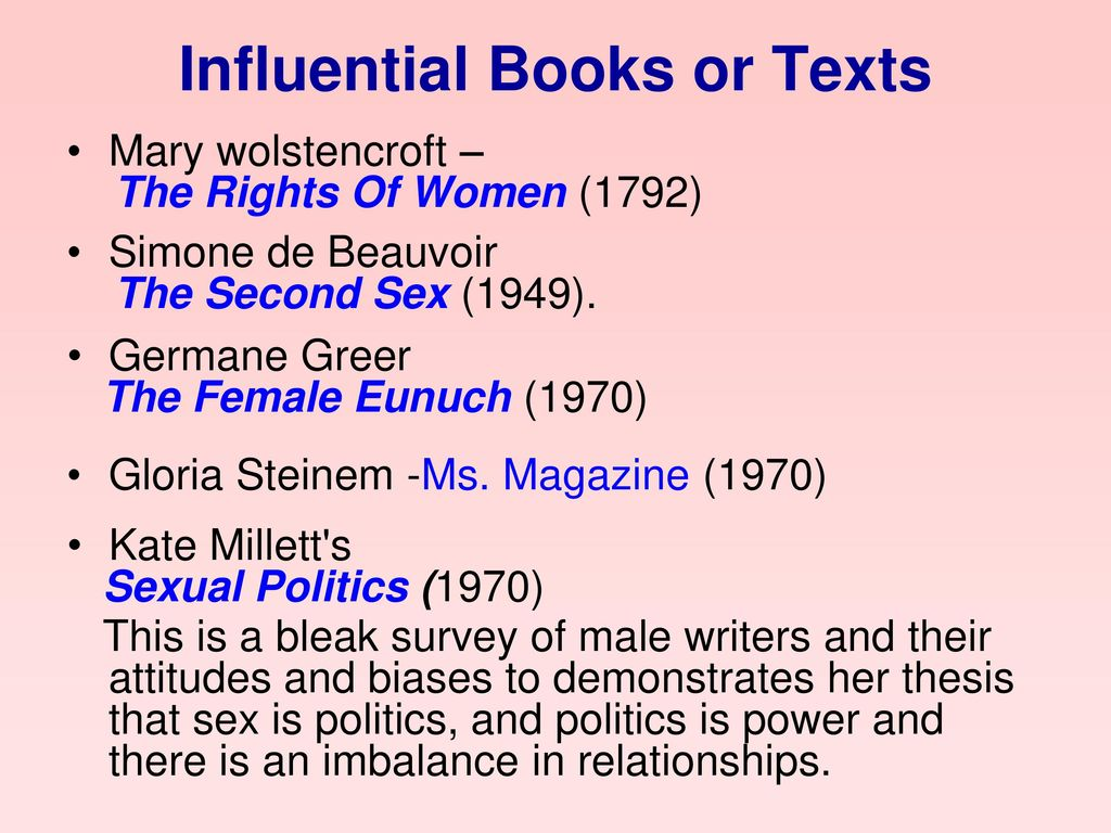 Influential Books or Texts