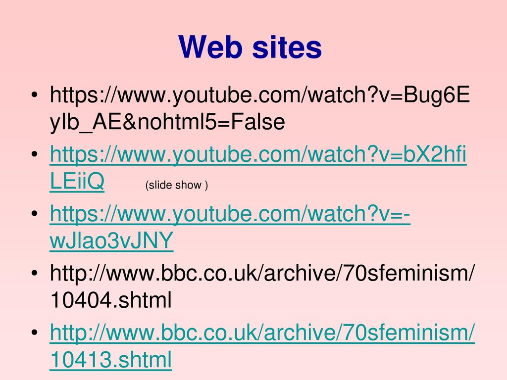Web sites   v=Bug6EyIb_AE&nohtml5=False