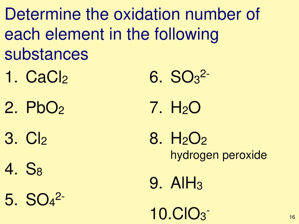Stoichiometry molarity and more ppt download determine the oxidation number of each element in the following substances gamestrikefo Image collections