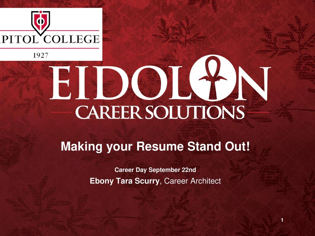 Making your Resume Stand Out Career Day September 22nd ppt download