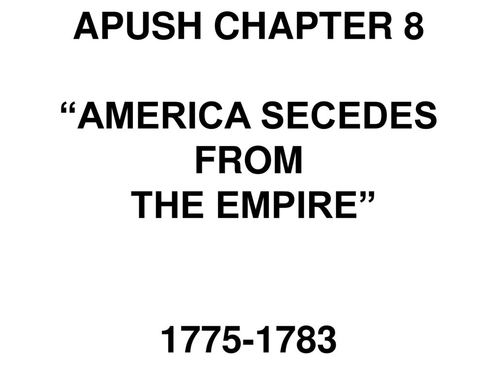 apush chapter 3 america in the Chapter 3: settling the northern colonies  they wanted to come to america to be able to have religious freedom within their own piece of land to live in.