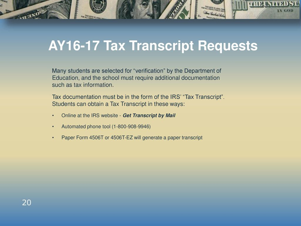 Howard community college financial aid services december ppt download ay16 17 tax transcript requests falaconquin