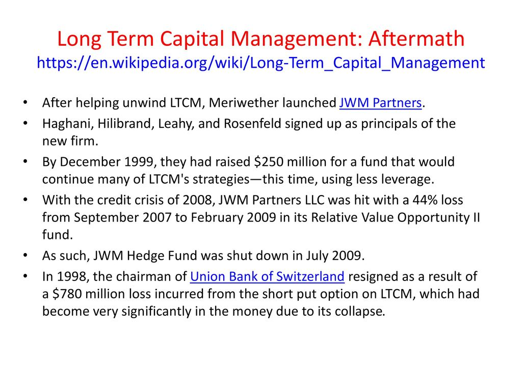 long term capital management lp a We are an independently managed investment company whose key objective is  to deliver long term real returns for our clients real return investing.