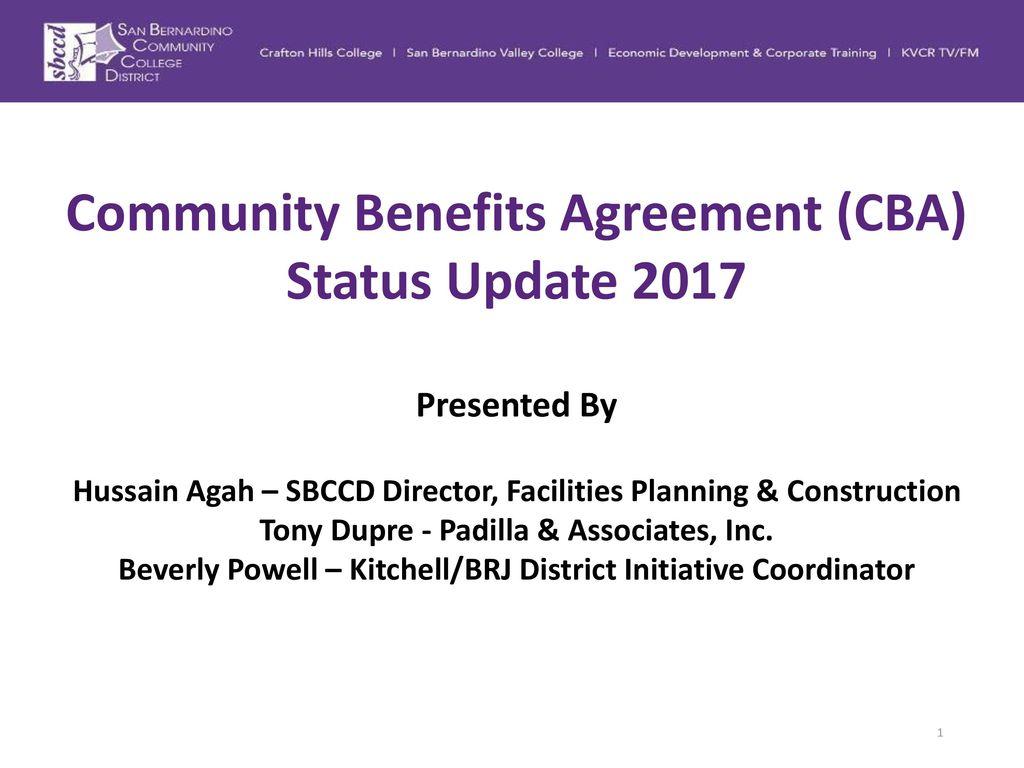Community benefits agreement cba status update ppt download community benefits agreement cba status update 2017 platinumwayz