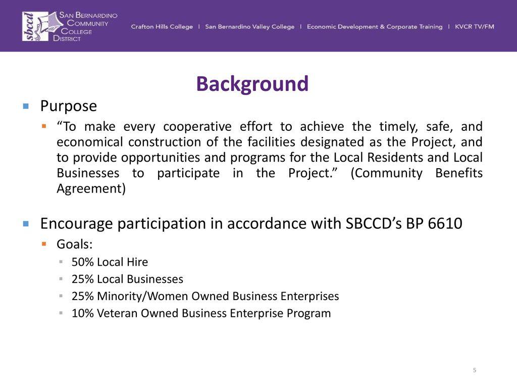 Community benefits agreement cba status update ppt download 5 background platinumwayz