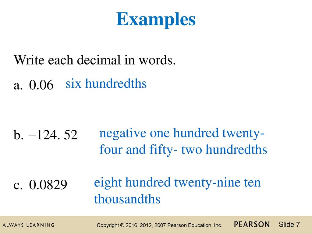 Two hundredths in standard form choice image standard form examples 4 chapter chapter 2 decimals ppt download examples write each decimal in words 006 six hundredths falaconquin