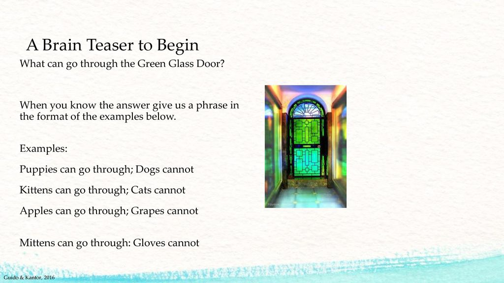 Meaningful Learning And Assessing Ppt Download 4 A Brain Teaser To Begin What  Can Go Through